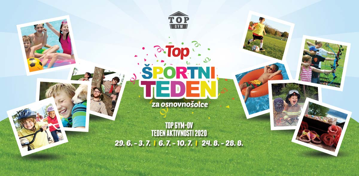 TOP športni tedni za otroke 2020 – prijave so odprte!