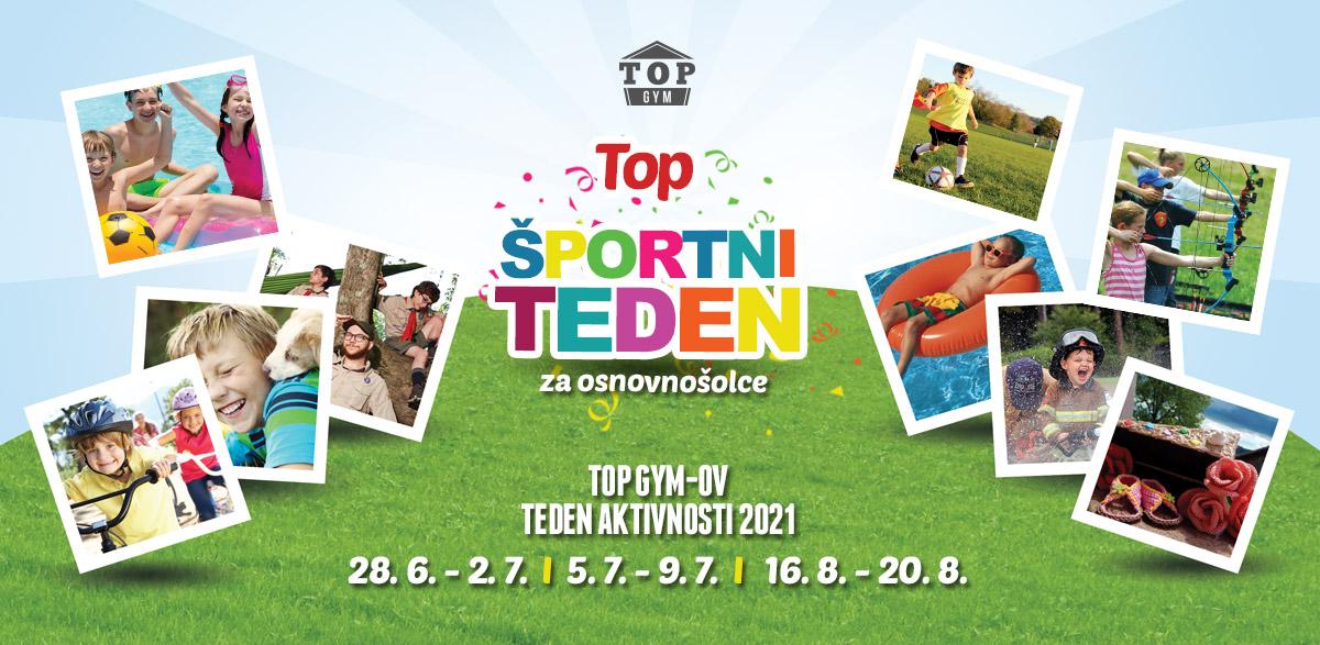 TOP športni tedni za otroke 2021 – prijave so odprte!